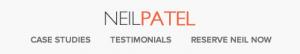 Struttura sito Neil Patel